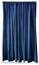 New Store Showroom Display Backdrop Navy Blue Velvet 96 inch Curtain Long Panels