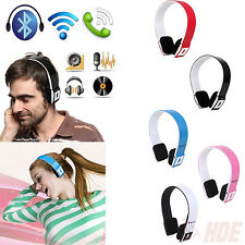 Bluetooth Wireless Mic Headphone Stereo Headset for Phone Tablet PS3 PC Laptop