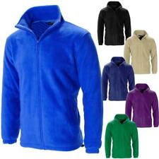 Mens Full Zip Anti Pill Lined Polar Fleece Jacket Work Coat Size
