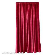 Burgundy High Hotel Hall Partition/Divider Velvet 20 ft Curtain Extra Long Panel