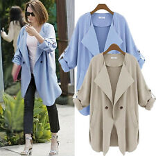 2014 Summer autumn long-sleeved Coat Casual Trench Plus Size Women's Outerwear
