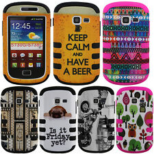 For Samsung Galaxy Discover S730G Centura S738C Case HYBRID Tuff Cover Owl Frost