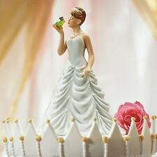 Princess Bride Kissing Frog Wedding Cake Topper WITH Custom Hair Colors