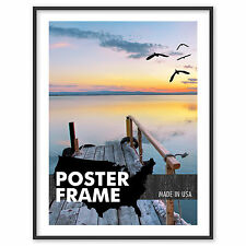 8 x 11 Custom Poster Picture Frame - Select Frame Profile, Color, Lens, Backing