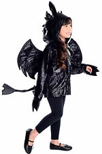 Dragon Hoodie Costume Girls Boys How to Train your night fury Childs 5 6 7 8 9 +