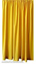 """Custom Width by 84"""" H Solid Yellow Velvet Curtain Single Panel w/Rod Pocket Top"""