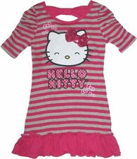 NEW Sanrio Hello Kitty 3D Sequin Bow *Glittering Smiling Face* Dress Top Size 4