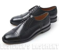 GUCCI mens Black leather CEZANNE brogue Oxford laced-up Derby shoes NIB Authentc