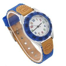 Lot 5/8pcs Kids Girl Boy Child Watch Learn Time Quartz Casual Wristwatch U32F