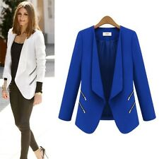 Autumn Winter Women Slim Casual Blazer Suit Jacket Coat Outwear Office Cardigan