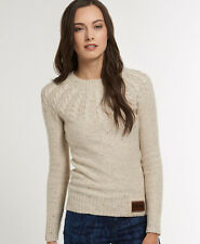 New Womens Superdry Propeller Crew Jumper Oatmeal Beige VH