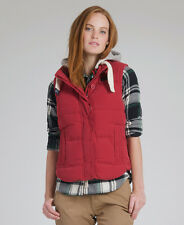 New Womens Superdry Academy Gilet Jacket Creed Red