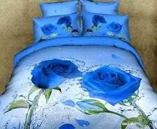 Rose Doona Quilt Duvet Cover Set Double/Queen/King Size Floral Bed Cover Set New