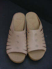 New w defect Dansko Sandal Open Toe Leather Clog Mule Shoe Nude Women Sz 42 $130