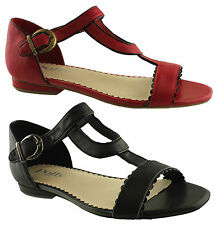 POLLY SHOES JANE WOMENS/LADIES LEATHER STYLISH STRAPPY SHOES/SANDALS/COMFORT