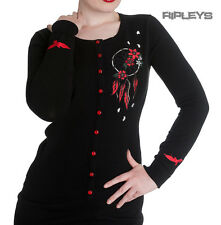 HELL BUNNY Ladies AIYANA Cardigan/Top Black Goth/Dreamcatcher All Sizes