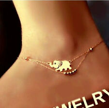 Fashion Elephant Charm Chain Anklet Foot Bracelet Beach Sandal Barefoot Jewelry