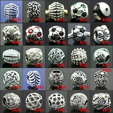 Sport Series 925 Silver European Charms Beads for Bracelet/Necklace/Ring
