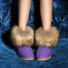 HOT style womens fashion winter ankle boots fur furry slip on comfort fur furry