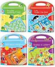 CHILDRENS KIDS CREATE MAGNETIC TRAVEL BOARD GAMES 4 DESIGNS CAR HOLIDAY GIFTS