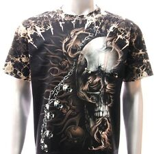 b23 Sz M L XL XXL Survivor T-shirt Tattoo STUD Street Skull Dark Halloween Night