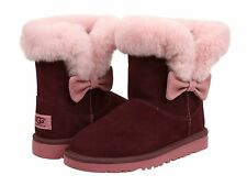 Ugg Australia Kourtney  Port  light Pink Bow 1005398  Youth / Kids Boot NEW