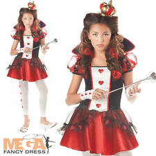 Queen of Hearts Girls Age 10-14  Fancy Dress Fairytale Book Kids Childs Costume