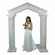 WHITE MARBLE looking Pillars OR Archway Wedding Ceremony Decoration Aisle Runner