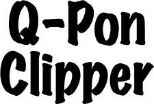 "Q Pom Clipper Coupon - 5.5"" x 3.75"" - Choose Color - Vinyl Decal Sticker #3481"
