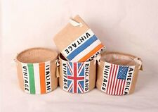 Zakka National Flags Multi-function Storage Round Buckets Laundry Bags SNYT014