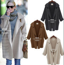 HOT Womens Casual Sweater Batwing Sleeve Knitted Cardigan Loose Lady Jacket Coat
