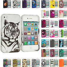 For Apple iPhone 4 4S Hard Design Snap-On Skin Case Cover Accessory