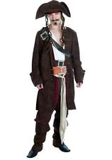 ADULT MENS RUM SMUGGLER PIRATE FANCY DRESS UP COSTUME - SIZES: M - L - XL