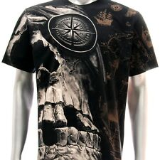 r58 Rock Eagle T-shirt SPECIAL Tattoo Skull Biker Fashion Black Ghost Cotton Tee