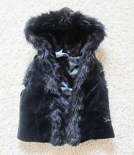 NEW Guess Baby Faux Fur Trim Hoodie Vest  Size 12 Months