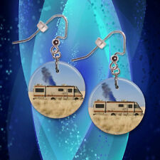 "**BREAKING BAD** Choice Of 1"" Button Dangle Earrings **FREE PIN** ~~USA Seller"