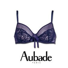 Aubade Opium Devin G112 Violet Balconette Full Cup Sheer Bra - Various Sizes
