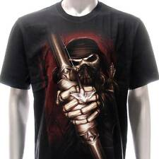 r159 Rock Eagle T-shirt Tattoo Skull Glow in Dark Archer Bow Ghost Horror Indie
