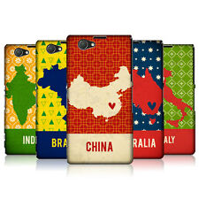 HEAD CASE PRINTED COUNTRY MAPS PROTECTIVE COVER FOR SONY XPERIA Z1 COMPACT D5503