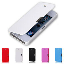 Magnetic Flip Leather Hard Skin Pouch Wallet Case Cover For Apple iPhone Samsung