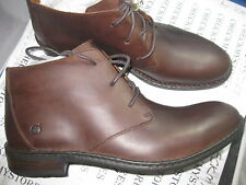 NEW  BORN Twain Casual Lace Up Ankle Leather Chukka Boots Mink H10906