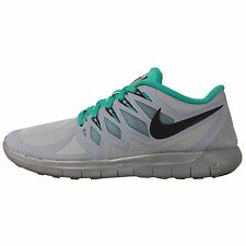 Nike Free 5.0 Flash Silver 3M Reflective Green 2014 Mens Running Shoes H2O Repel