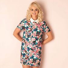 Womens Glamourous Airbrush Flower Swing Dress, Floral From Get The Label DRESSWD