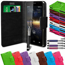 Leather Suction Wallet Flip Mobile Phone Case Cover For Vodafone Smart 4 Turbo