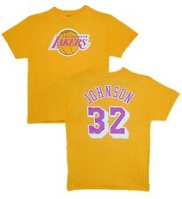Los Angeles Lakers Magic Johnson Gold 2 Color Back Name and Number T-Shirt