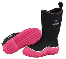 Muck Boot Kids Hale Black & Pink Winter Snow Boots KBH-404