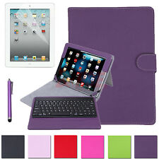 Removable Bluetooth PU Leather Case Cover Stand w/ Keyboard for Apple iPad 2 3 4