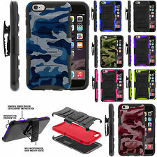 Apple Iphone 6 Rugged Armor Holster Kickstand Tough Case Cover Future Impact
