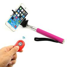 Telescopic Selfie Monopod Stick + Bluetooth Wireless Remote Moble Phone Holder