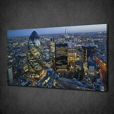 NIGHT IN LONDON CITY SKYLINE MODERN CANVAS PRINT PICTURE WALL ART FREE UK P&P